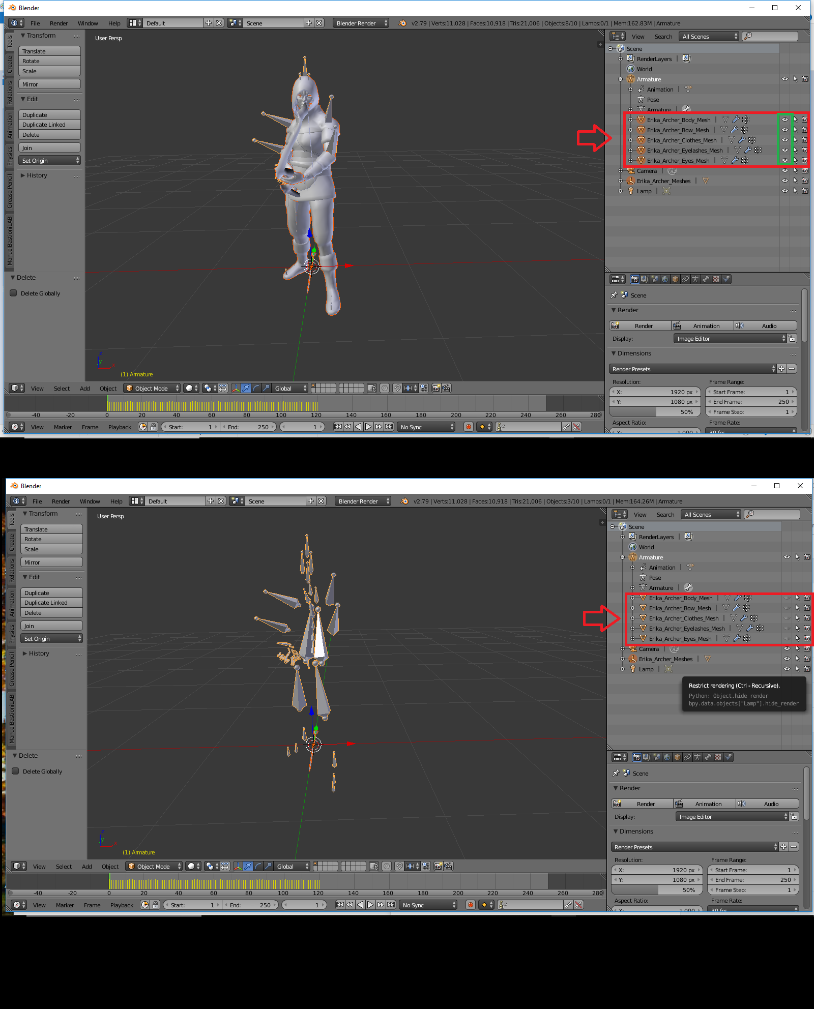 UE4 Blender Guide For Mixamo Imports Part 1 – Preparing the Models